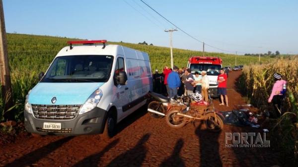 Os corpos das duas vítimas fatais serão encaminhados para o IML em Cascavel. (Fotos: CONSAMU)