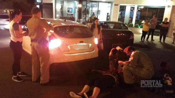 Do acidente, duas pessoas ficaram feridas. (Fotos: Portal Nova Santa Rosa)