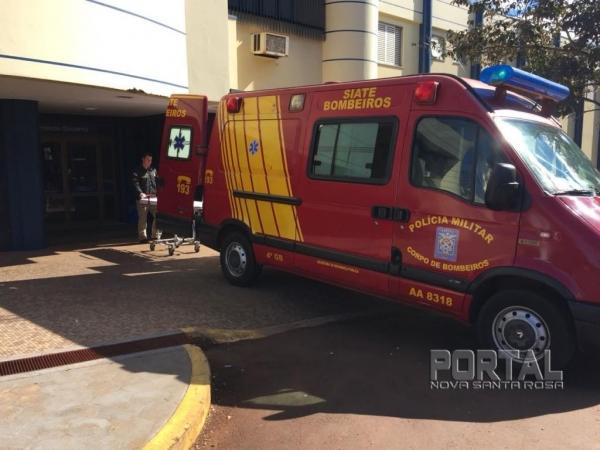 O jovem foi socorrido e encaminhado para atendimento no Hospital Rondon.(Foto: Marcio Cerny)