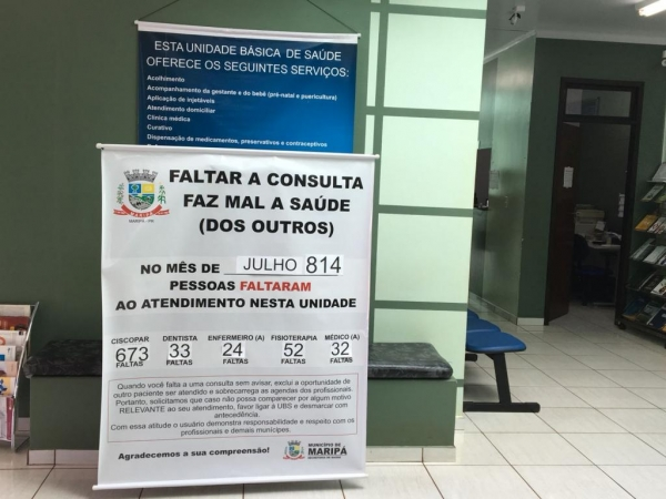 Em um mês, 673 pessoas faltaram em atendimentos agendados no Ciscopar e 211 nas UBS's. (Foto: Assessoria)