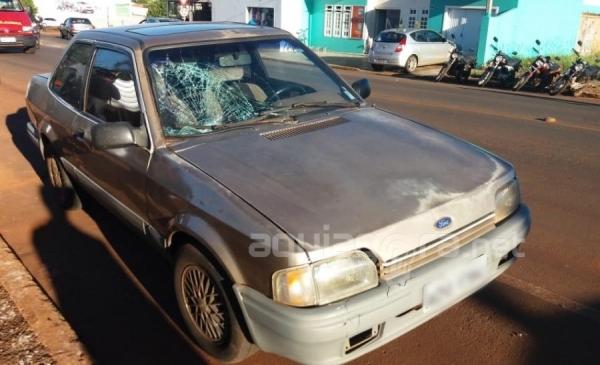 Pedestres ficam feridos após atropelamento em Marechal Rondon (Foto: Fernanda Bourscheidt/AquiAgora.net )
