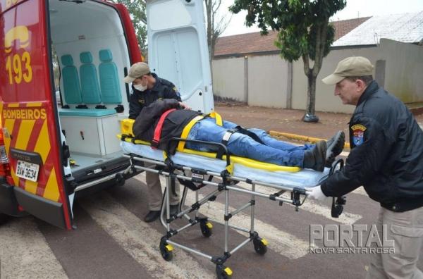 O trabalhador teve ferimentos leves. (Fotos: Bogoni)