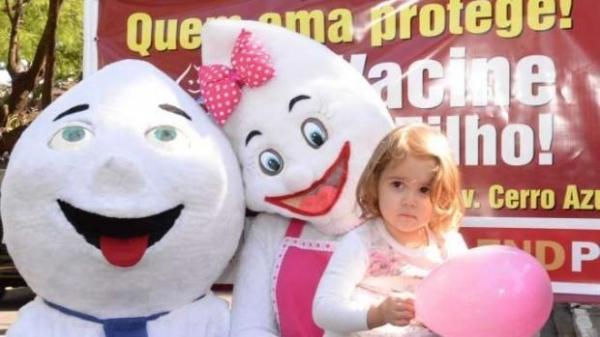 o Paraná ainda está longe da meta de vacinar pelo menos 95% das crianças com idade entre 12 meses e 4 anos de idade.(Foto: Assessoria)