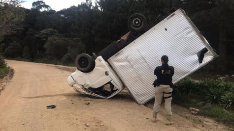 A ação aconteceu durante um trabalho rotineiro na rodovia BR-277. (Foto:PRF)