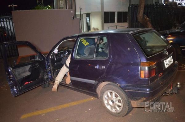 O veículo foi guinchado elevado à 20ª SDP de Toledo.(Foto: Bogoni)