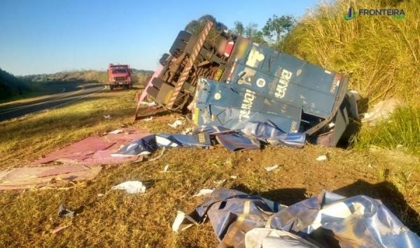 O acidente foi provocado por uma saída de pista.(Foto: Fronteira Online )