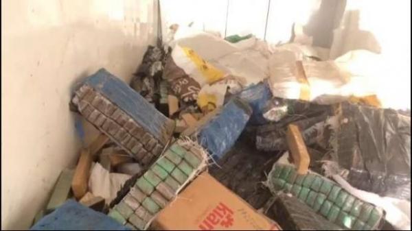 Não foram divulgados a quantidade de drogas destruídas, ou quantos policiais estiveram envolvidos no trabalho. (Foto: Catve)