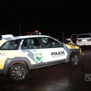 A Polícia Militar esteve no local do acidente. (Fotos: Portal Nova Santa Rosa(