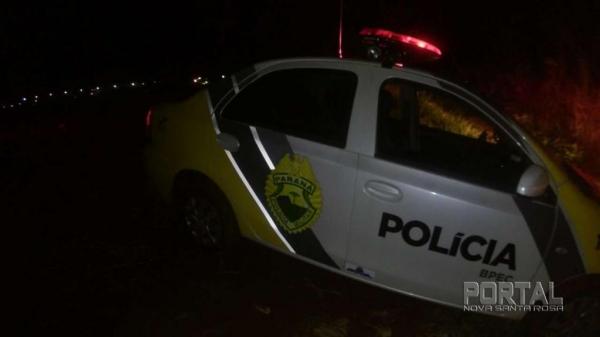 Em perseguição a PM recuperou o veículo. (Foto: Léo Silva)