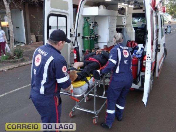 Ele resultou com escoriações em umas das pernas e foi encaminhado ao PAM para receber atendimento médico. (Foto: Correio do Lago)