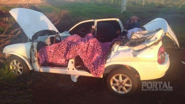 O acidente foi na manhã de hoje. (Fotos: Bogoni)