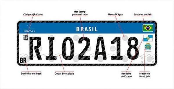 Nova placa para veículos, no padrão Mercosul, reduz chances de clonagem (Foto: Divulgação/Detran )