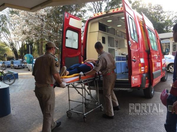 A jovem foi encaminhada para o hospital. (Fotos: Marcio Cerny/Marechal News)