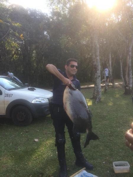 O objetivo era pescar um Pacu, a surpresa foi grande quando o animal capturado pesou 23.700.(Foto: CGN)