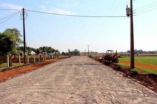 Pavimentação poliédrica chega a novas comunidades do interior.(Foto: Assessoria)