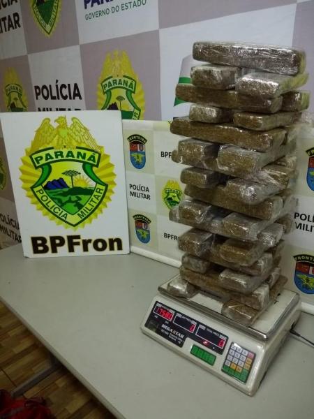 Em duas ações foram apreendidos droga. (Fotos: BPFron)