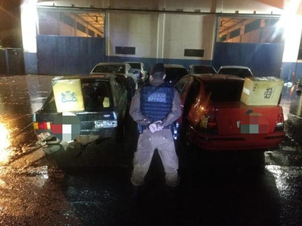 Foram encontrados dois veículos abandonados. (Fotos: BPFron)