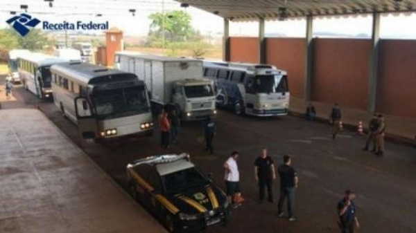 A ação foi realizada no posto fiscal Bom Jesus da rodovia BR 277. (Foto: Receita Federal)