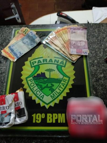 Parte do dinheiro foi recuperada. (Foto: PM)