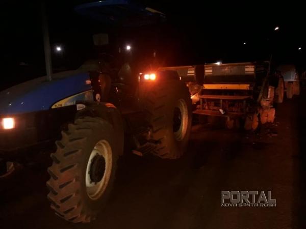 O acidente foi na noite de ontem. (Fotos: Portal Nova Santa Rosa)