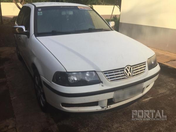 O veículo com placas de Palotina foi detido. (Foto: Portal Nova Santa Rosa)