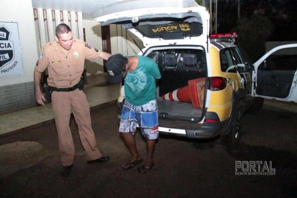 Luiz foi preso e encaminhado na noite desta sexta-feira para a 47ªSDP de Marechal Rondon. (Fotos: Portal Nova Santa Rosa)