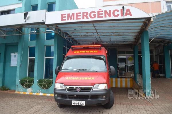 A mulher permanece internada e sem previsão de alta no Hospital Bom Jesus de Toledo.(Foto: Bogoni/Radar B.O.)
