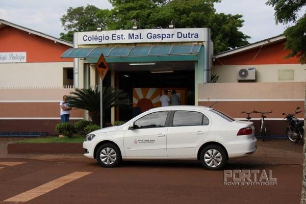 Votação no Colégio Gaspar Dutra. (Fotos: Portal Nova Santa Rosa)