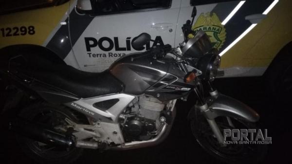 A moto foi furtada nesta segunda-feira. (Foto: PM)