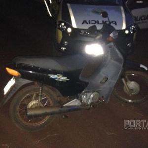 Moto furtada em dezembro do ano passado. (Foto: Portal Nova Santa Rosa)