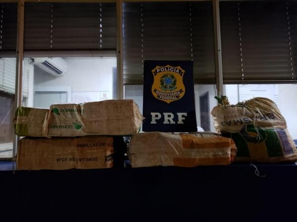 Após pesagem a droga totalizou 91Kg. (Foto: PRF)