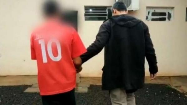 O preso foi encaminhado ao setor de carceragem da Delegacia da Polícia Civil de São Miguel.(Foto: Guia SMI)