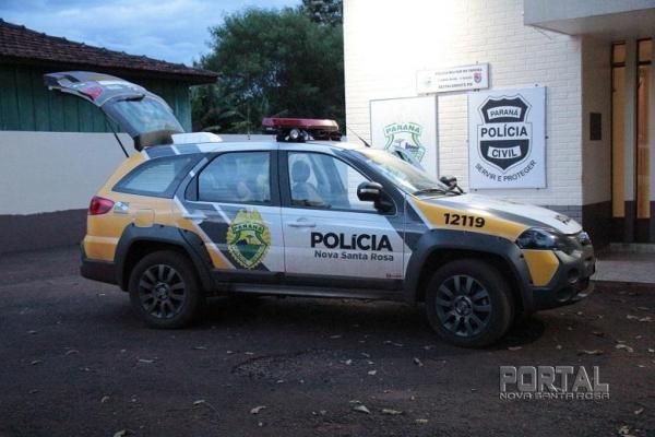 A polícia foi acionada. (Foto: Portal Nova Santa Rosa)