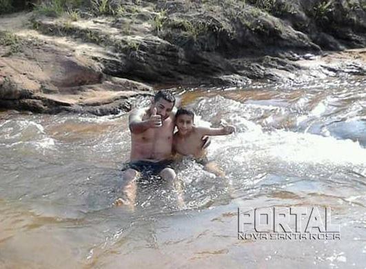 O pai, Leandro Padilha Lopes, 34 anos, tentou resgatar o filho, mas acabou se afogando também. (Foto: Umuarama News)