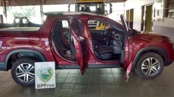 O veículo foi roubado em dezembro de 2017. (Foto: BPFRON)
