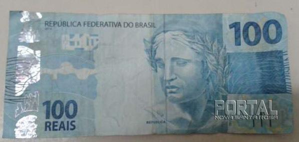 Nota falsa de R$ 100,00. (Foto: Colaborador)