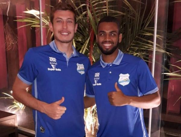 Matheys Kayser e Gabriel (Foto: Divulgação/Grêmio Anápolis)