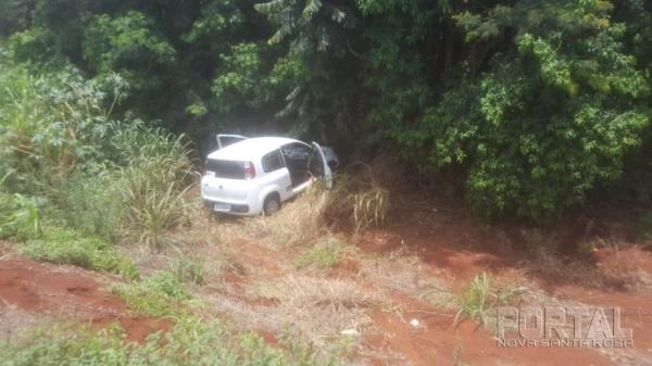 Equipes da PRF, com apoio do 19º BPM, fizeram o cerco policial e a equipe da Patrulha Rural adentrou ao mato, logrando êxito em localizar o fugitivo.(Foto: PM)